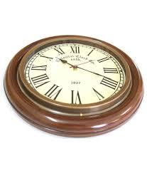 artshai exclusive antique look brass and wooden wall clock buy
