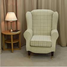Check Armchair Wingback Chairs Beaumont Furnishings