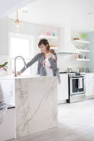 New Kitchen Cabinets And Countertops Best 25 Waterfall Countertop Ideas On Pinterest Marble Kitchen