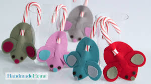 diy candy cane mice handmade home martha stewart youtube