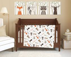 woodland animals baby bedding woodland animals baby blanket with name woodland crib bedding