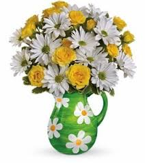 port florist exclusively at flowers today florist happy daisies ceramic