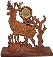 deer clock wood clock unique desk clock deer decor hunting
