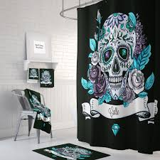 Graphic Shower Curtains by Shower Curtain My Sugar Skulls