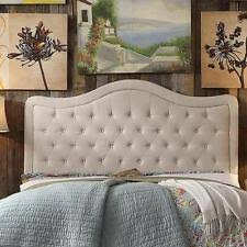 Tufted Linen Headboard by Curtis I King Beige Linen Headboard Ebay