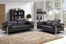 modern genuine leather sofa set