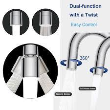 kitchen faucet swivel aerator aliexpress com buy dual function 2 flow water saving faucet