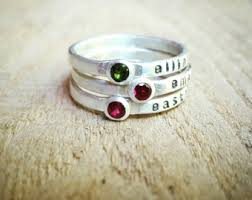 ring with birthstones gold ring birthstone stacking ring cz diamond stacking