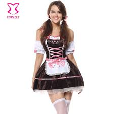 Maid Halloween Costume Buy Wholesale Brown Maid Costumes China Brown Maid