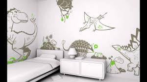 boys bedroom wall decals design with dinosaur theme modern kids