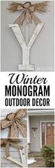 winter monogram decor for outside front door