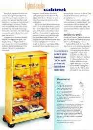 Lighted Display Cabinet Lighted Display Cabinet Plans U2022 Woodarchivist