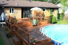 above ground pool wood deck designs wood pool deck design wooden