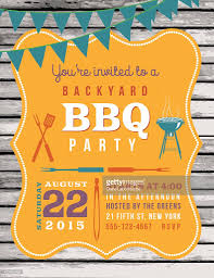 International Bunting Flags Cute Bbq Invitation Template With Wood Background And Bunting
