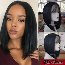center part bob hairstyle short bob haircuts synthetic lace front wig heat resistant baby