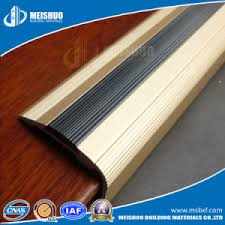 china aluminum rubber indoor stair nose molding for antislip strip