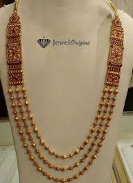 long gold ball necklace images Designer gold and diamond jewellery indian jpg