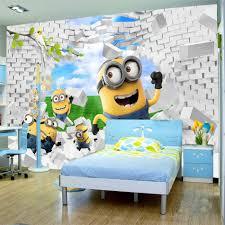 aliexpress com buy shinehome cute yellow minions brick wallpaper https ae01 alicdn com kf htb17n0fopxxxxbmxvxxq6xxfxxxq cute