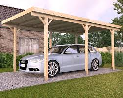 stunning freestanding solid wood carport with cool flat roof and