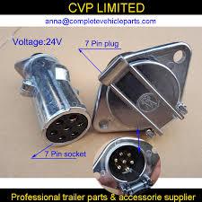 7 pin 24v metal towing towbar trailer truck plug socket set wiring