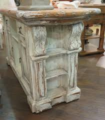 distressed kitchen islands distressed country kitchen island bar counter majestic fog