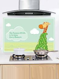 humidité cuisine autocollant de cuisine à motif de girafe étanche à l humidité