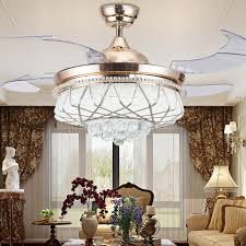 Chandelier Fans Aliexpress Com Buy 42 Inch Modern Led Crystal Ceiling Fans With