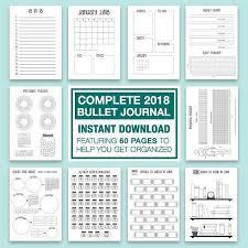 printable planner diary sale 2018 bullet journal a4 printable 12 month starter kit calendar