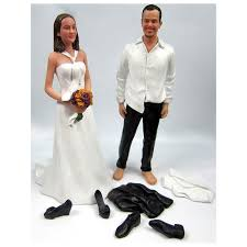 Personalized Wedding Album Casual Bride And Groom Beach Personalized Wedding Cake Toppers