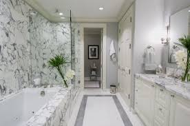 White Marble Bathroom by Bathrooms With Carrera Marble
