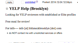 Living Room Theater Yelp Littleneck Claims No Involvement In Craigslist Post For Yelp