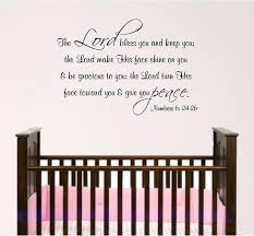 Scripture Wall Decals For Nursery Nursery Bible Verse Wall Decal Lord Bless You