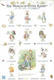 japanese stamps feature peter rabbit beatrix potter