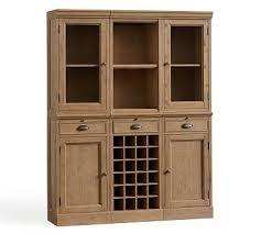 wall unit bar cabinet wood wine bar furniture pottery barn