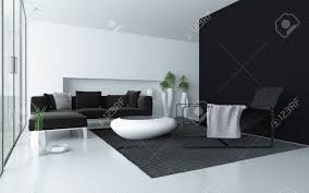 minimalist grey and white modern living room interior with a