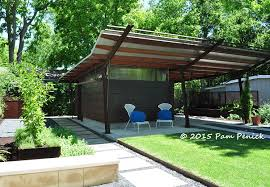 Modern Carport Geometric Design Creates Modern Garden For Entertaining