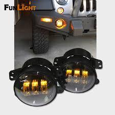 2017 jeep wrangler fog light bulb size 4 inch amber yellow 30w led fog lights for jeep wrangler 1997 2017