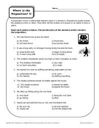 picturing prepositions preposition worksheets