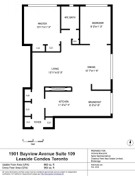 leaside condos floor plans 2 bedrooms for sale 860 square feet
