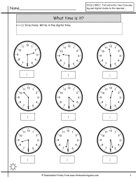 telling time to the half hour worksheets for first grade worksheets