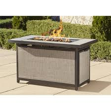 Fire Pit Cosco Outdoor Serene Ridge Aluminum Propane Gas Fire Pit Table