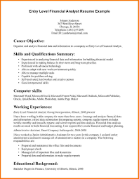 Resume Summary Statement Example by Resume Summary Statement Examples Entry Level Free Resume