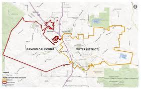 Cal Map Service Area Rancho California Water District Ca