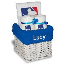 baseball gift basket mlb major league baseball large baby gift basket