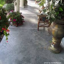 concrete flooring staining concrete floors front porch