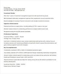 Investment Banker Resume Sample by Best Banking Resume Templates 31 Free Word Pdf Documents