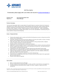 accounts receivable job description samples amitdhull co