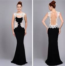 dress to party new fashion appliques sheer evening dresses prom