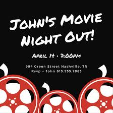 film reel emoji white and red film reel movie night invitation templates by canva