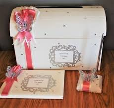 Christening Photo Album Personalised Butterfly Post Box Guest Book Pen Photo Album
